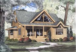 Log-Cabin Style Floor Plans Plan: 12-779
