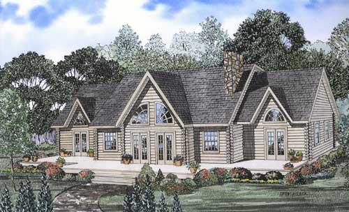Log-cabin Style Floor Plans Plan: 12-782