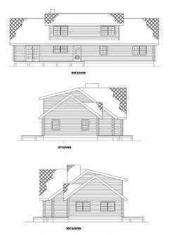 Rear Elevation Plan: 12-782
