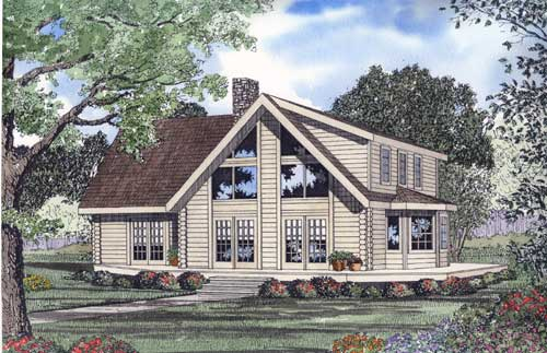 Log-cabin Style House Plans Plan: 12-783