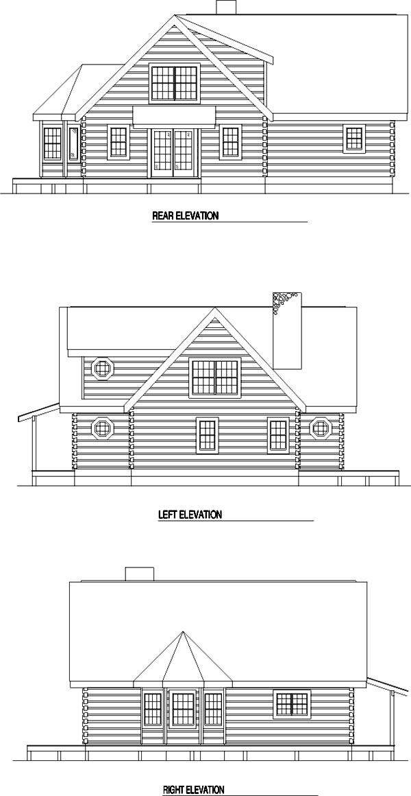 Rear Elevation Plan: 12-784