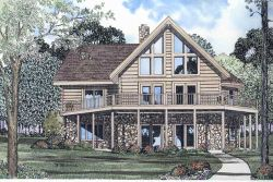 Log-Cabin Style House Plans Plan: 12-784