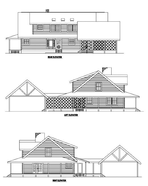 Rear Elevation Plan: 12-787