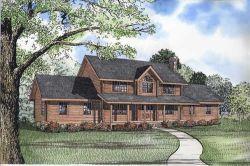 Log-Cabin Style Floor Plans Plan: 12-791