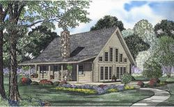 Log-Cabin Style Home Design Plan: 12-797