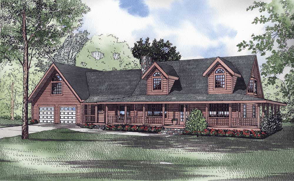 Log-cabin Style House Plans Plan: 12-802