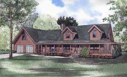Log-Cabin Style Floor Plans Plan: 12-802