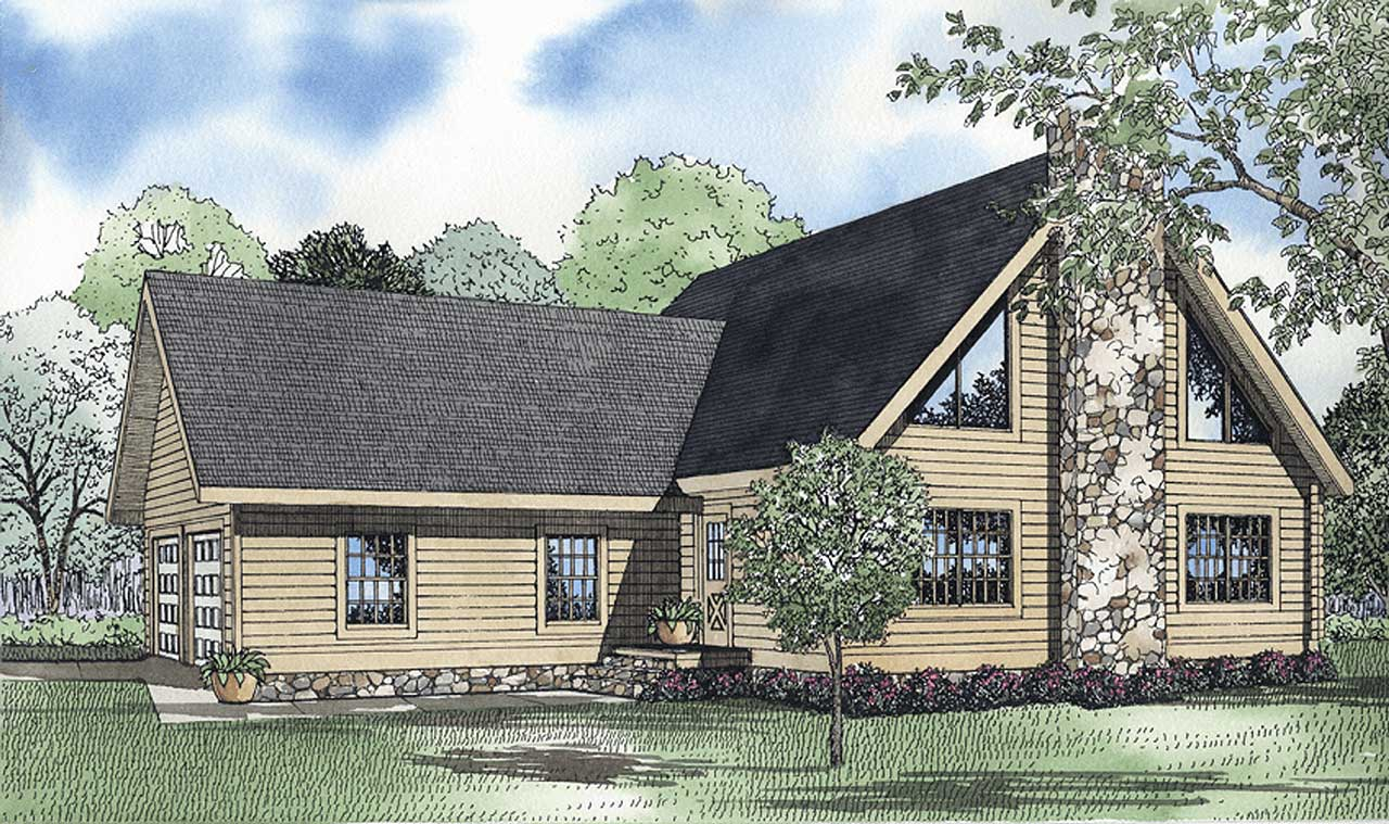 Contemporary Style Home Design Plan: 12-804