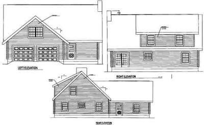 Rear Elevation Plan: 12-804
