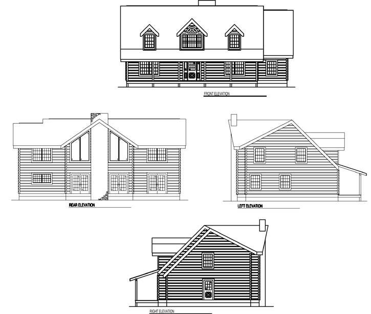 Rear Elevation Plan: 12-809