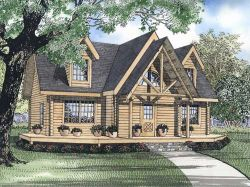 Log-Cabin Style House Plans Plan: 12-810