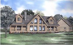 Log-Cabin Style House Plans Plan: 12-817