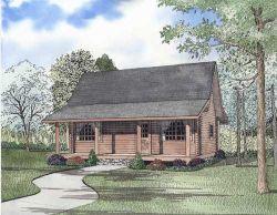 Log-Cabin Style House Plans Plan: 12-820