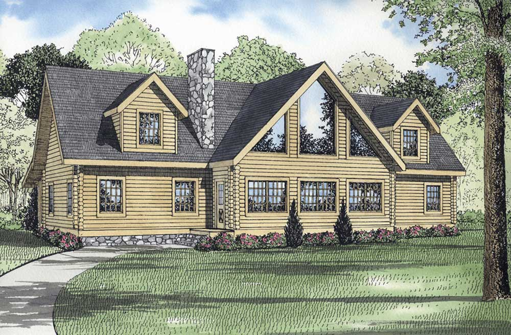 Log-cabin Style Floor Plans 12-821