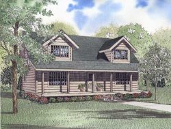 Log-Cabin Style House Plans Plan: 12-824