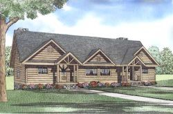 Country Style Home Design Plan: 12-826