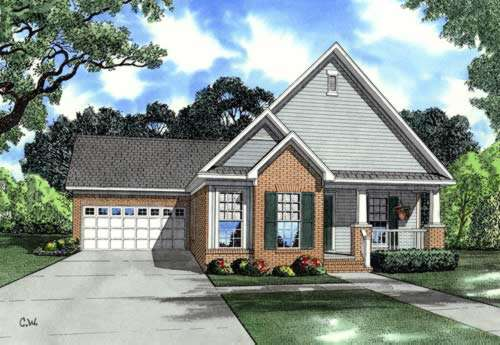 Craftsman Style Home Design Plan: 12-830