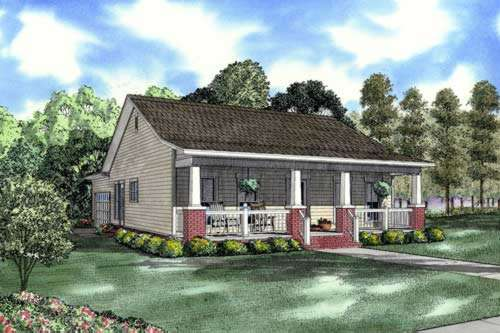 Country Style Home Design Plan: 12-833