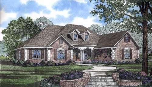 European Style Home Design Plan: 12-835