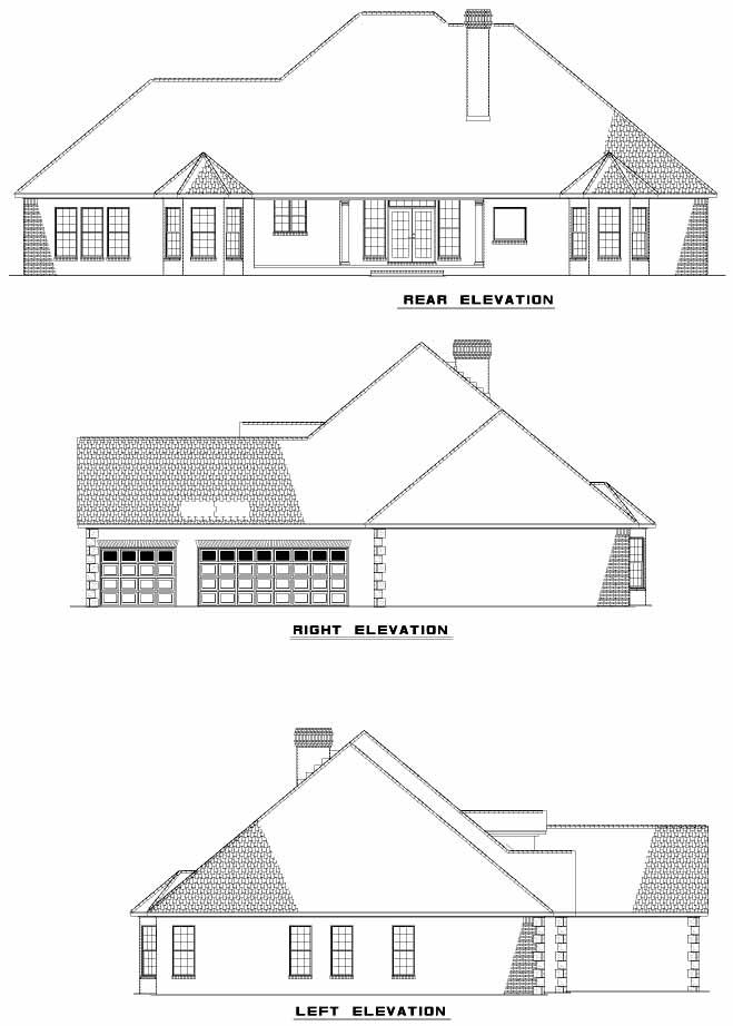 Rear Elevation Plan: 12-835