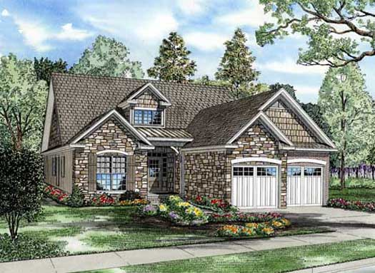 English-country Style Floor Plans Plan: 12-836