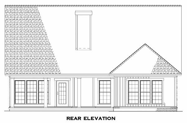 Rear Elevation Plan: 12-836