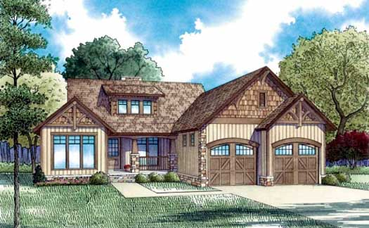 Mountain-or-rustic Style Floor Plans Plan: 12-838