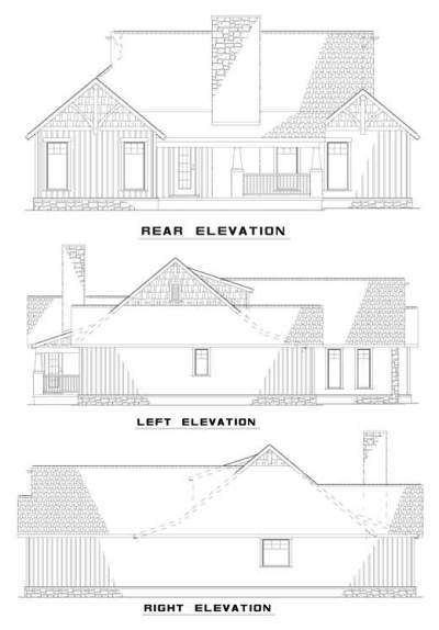 Rear Elevation Plan: 12-838