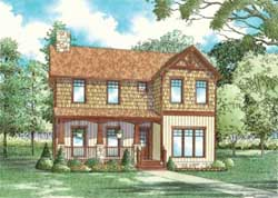 Cottage Style Home Design Plan: 12-839
