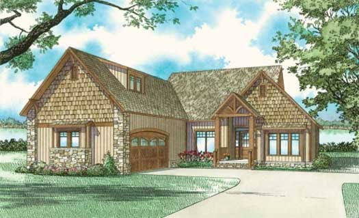 Mountain-or-rustic Style House Plans Plan: 12-840