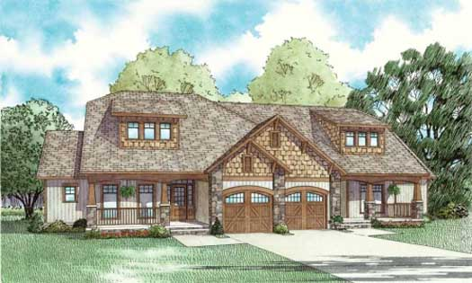 Craftsman Style House Plans Plan: 12-841