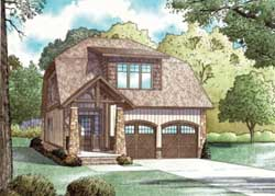 Bungalow Style Home Design Plan: 12-842