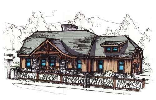 Craftsman Style Home Design Plan: 12-843