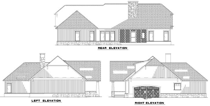 Rear Elevations Plan:12-843