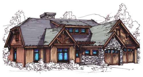 Bungalow Style Home Design Plan: 12-845