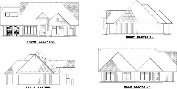 Rear Elevation Plan: 12-848