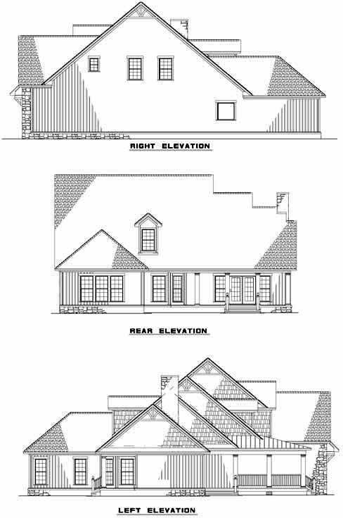 Rear Elevation Plan: 12-850