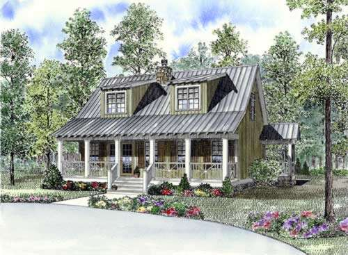 Country Style Home Design Plan: 12-852