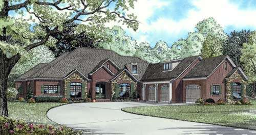 English-country Style House Plans Plan: 12-854