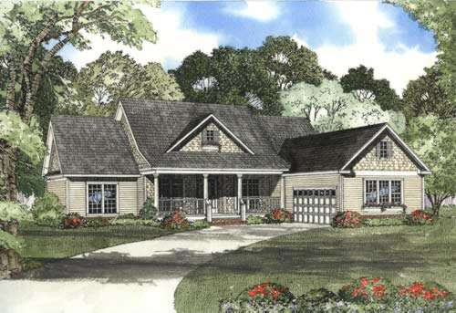 Country Style Floor Plans Plan: 12-855