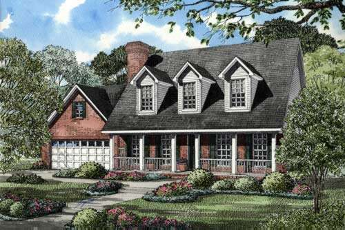 Country Style Floor Plans Plan: 12-856