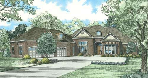 Traditional Style Home Design 12-859