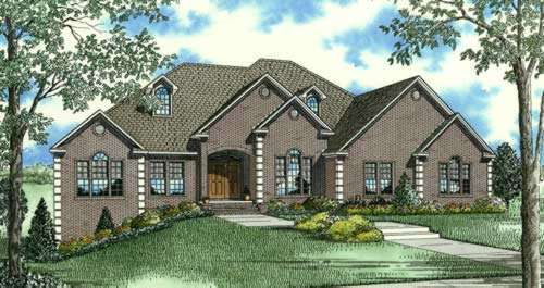 European Style Home Design Plan: 12-860
