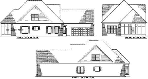 Rear Elevation Plan: 12-861