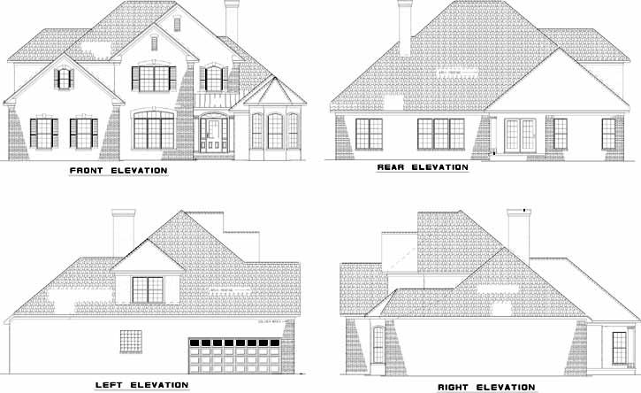 Rear Elevation Plan: 12-866