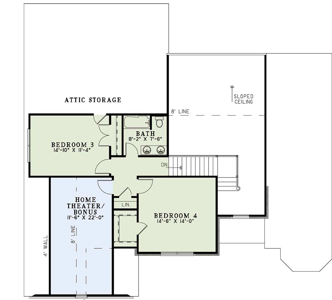 Upper/Second Floor Plan: 12-866