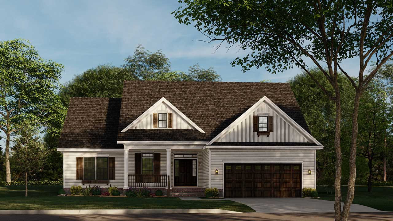 Traditional Style Home Design Plan: 12-868