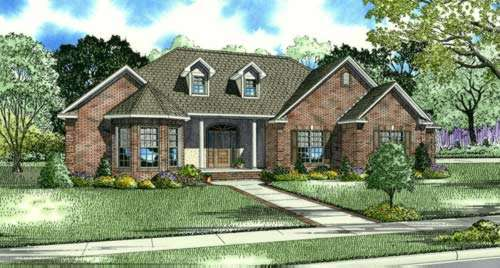 Traditional Style Home Design Plan: 12-869
