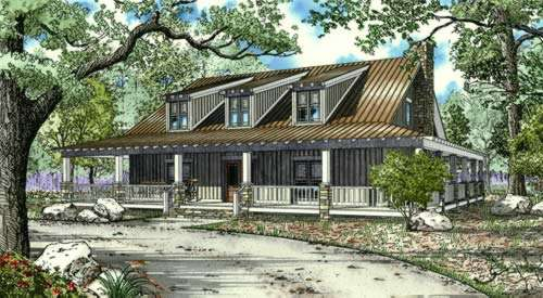 Country Style Floor Plans Plan: 12-872