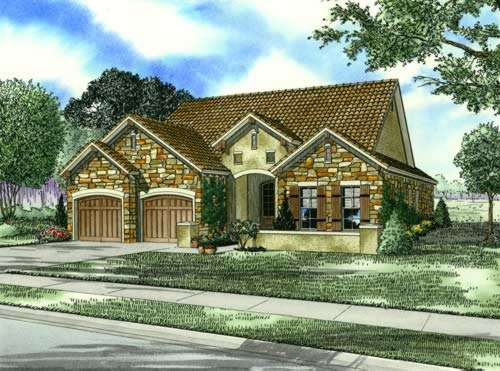 Tuscan Style House Plans Plan: 12-874
